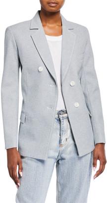 3.1 Phillip Lim Denim Asymmetric-Button Blazer