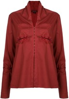 Romeo Gigli Pre Owned slit lace-up detailing blouse