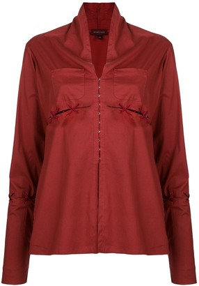 Romeo Gigli Pre-Owned Slit Lace-Up Detailing Blouse