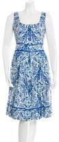 Tory Burch Ornate Print Linen Dress