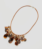 LOFT Tortoiseshell Print Drop Necklace