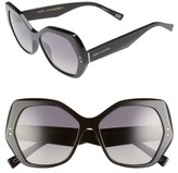 Marc Jacobs Women's 56Mm Polarized Sunglasses - Black/ Polar