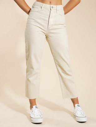 Articles of Society High Nina Cropped Jeans in Natural