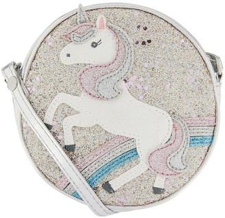 Accessorize Girls Unicorn Glitter Across Body Bag - Pink
