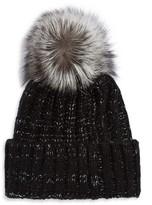 Kyi Kyi Fox Fur Chunky Knit Beanie