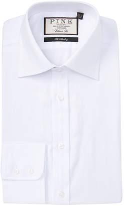 Thomas Pink Timothy Herringbone Classic Fit Dress Shirt
