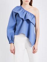 Rachel Comey Georgia one-shoulder cotton-blend top