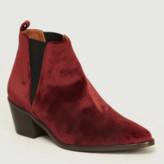 Castaner Burgundy Velvet Gabriela Boots - burgundy | velvet | 36 - Burgundy