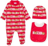 Moschino Kids Teddy logo print pajama set