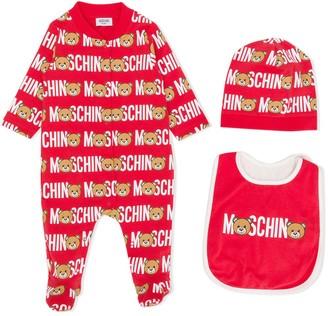 MOSCHINO BAMBINO Teddy logo print pajama set