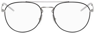 Ray-Ban Black and Silver Aviator Glasses