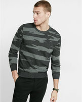 Express cotton camouflage crew neck sweater