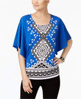 JM Collection Butterfly-Sleeve Top, Created for Macy's