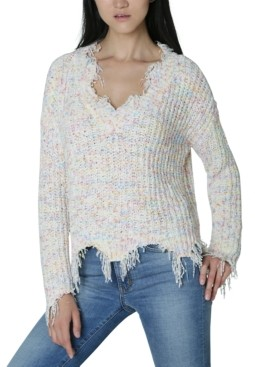 Ultra Flirt Juniors' Destructed Chenille Sweater