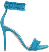 Gianvito Rossi 100mm Portofino Fringed Suede Sandals