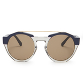 Marni Bi-colour round-frame acetate sunglasses