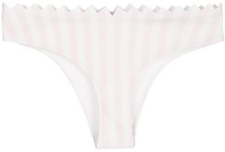 Onia Astrid macro stripe bikini bottoms
