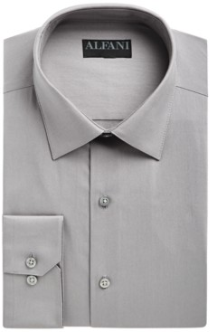 Alfani AlfaTech by Men's Slim-Fit Performance Stretch Easy-Care Solid Dress Shirt, Created for Macy's