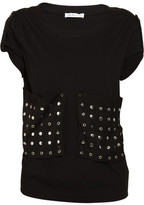 See by Chloé Stud-embellished cotton-blend T-shirt
