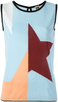 I'M Isola Marras geometric print tank top - women - Cotton/Polyamide - M