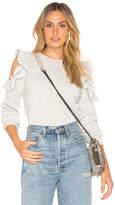 Rebecca Minkoff Gracie Sweatshirt in Light Gray. - size L (also in M,S,XS)