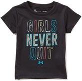 Under Armour Baby Girls 12-24 Months Girls Never Quit Short-Sleeve Tee
