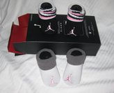 "Nike Jordan Infant New Born Baby Booties 0-6 Months with ""Jordan 23"" Sign One Set 2 Pairs"