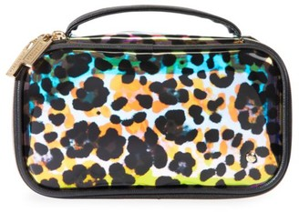 Stephanie Johnson Medium Cheetah Holograph Makeup Bag