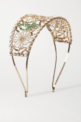 Rosantica Briscola Gold-tone Crystal Headband - one size