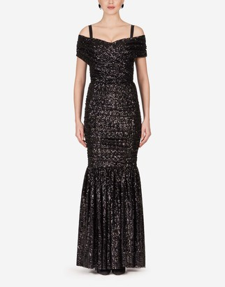 Dolce & Gabbana Long Sequined Dress