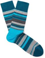 Hugo Boss - Striped Mercerised Cotton-blend Socks