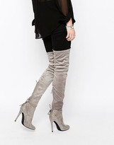 Public Desire Colette Heeled Thigh High Boots