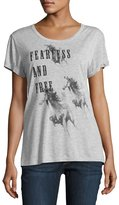 Haute Hippie Fearless Roll-Sleeve Tee, Gray