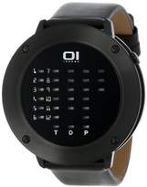 01 The One 01TheOne Women's Ibiza Ride Round Black Leather Watch #IRR202RB1