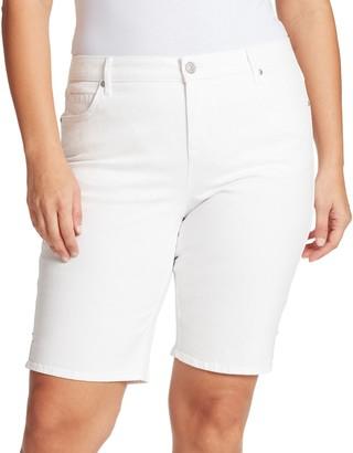 Gloria Vanderbilt Plus Size Midrise Bermuda Shorts