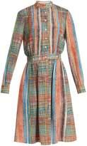 Marco De Vincenzo Chaos-print silk-crepe dress
