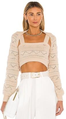 Majorelle Texture Stitch Sweater Set