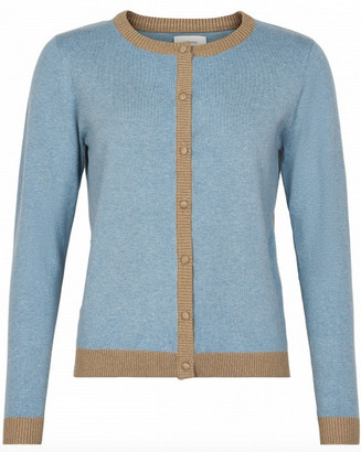 Nümph Light Blue Nubennington Cardigan - M | cotton | blue - Blue/Blue