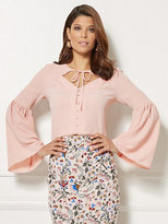 New York & Co. Eva Mendes Collection - Alida Bell-Sleeve Blouse