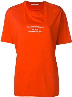 Stella McCartney slogan T-shirt