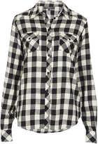 Topshop Tall longsleeve checked shirt