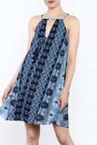 Paper Crane Blue Boho Sleeveless Dress