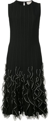 Alexander McQueen Ruffle Wave Hem Dress