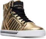 Supra Big Boys' Skytop Metallic High-Top Casual Sneaker by Finish Line