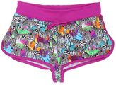 MC2 Saint Barth Zebra Printed Lycra Cover-Up Shorts