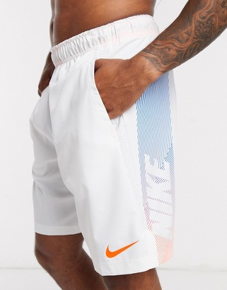 Nike Training Flex 2.0 shorts with large logo in white
