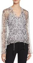 Ella Moss Sheer Leopard Long Sleeve Top