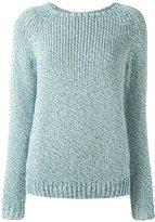 Julien David twill knit panel jumper