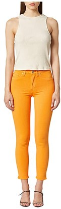 Hudson Barbara High-Waist Cropped Skinny Jeans in Tangerine (Tangerine) Women's Jeans