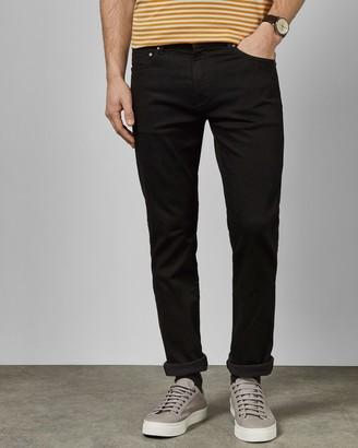 Ted Baker Straight Fit Jet Black Jeans